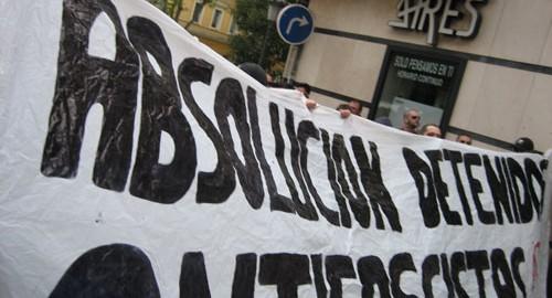 Este enero 18 antifascistas madrileños se enfrentan a hasta siete años de prisión