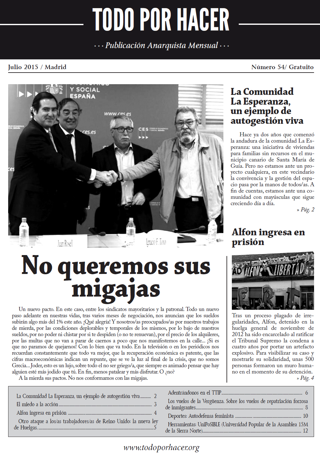 Portada TxH nº 54. Julio 2015