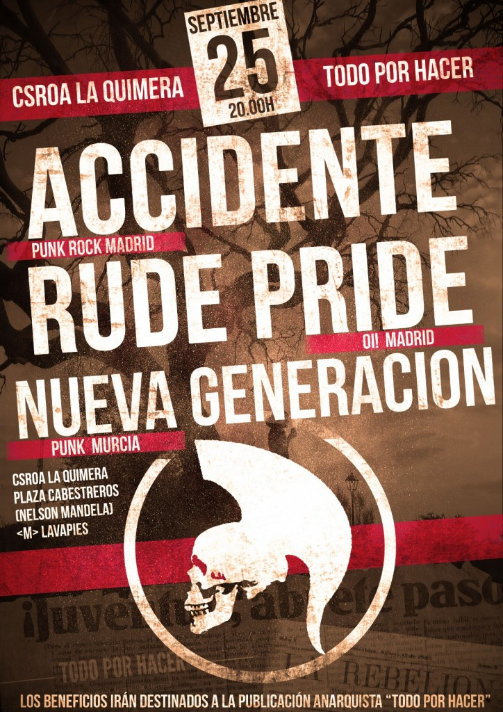 CARTEL ACCIDENTE RUDE PRIDE