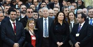 El Ministro de Exteriores, García Margallo, con opositores sirios en Córdoba