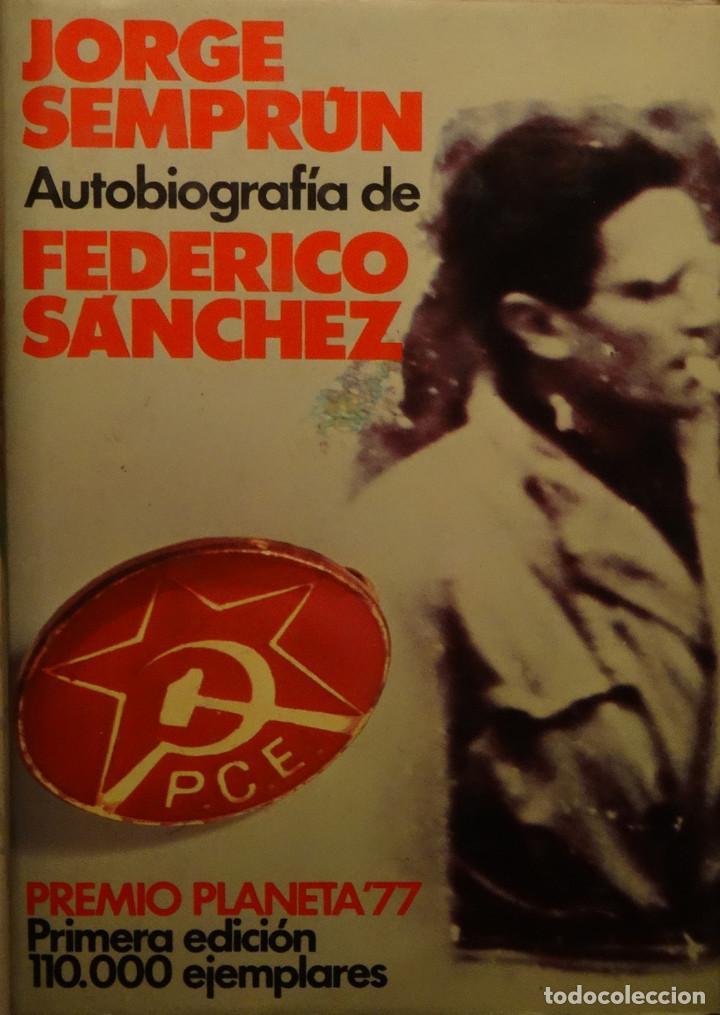 Portada Jorge Semprún, Autobiografía Federico Sánchez