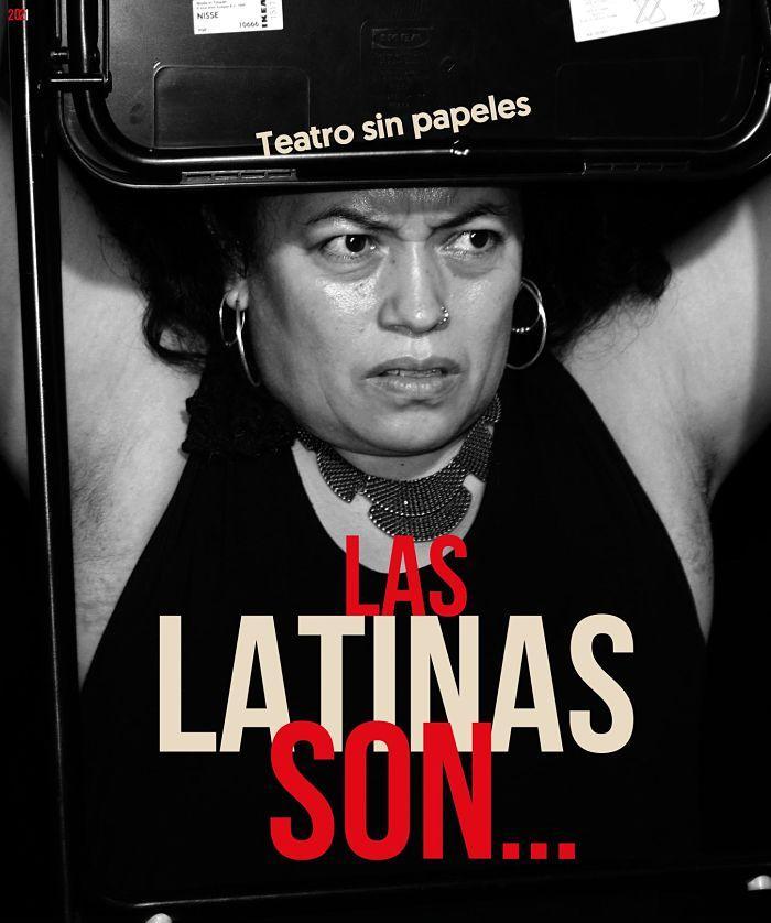 """Portada obra de teatro """"Las Latinas son"""""""
