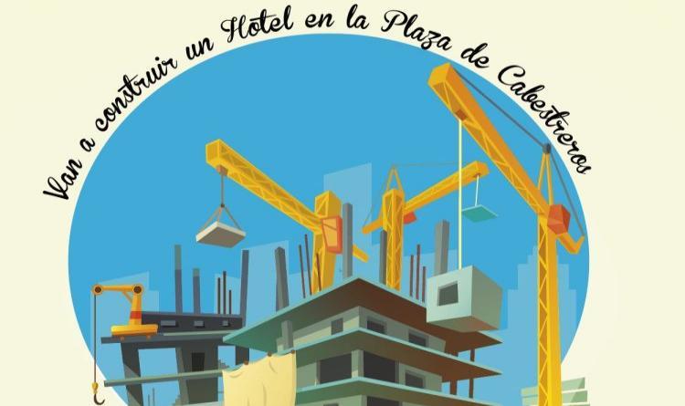 Ilustración de un edificio en construcción rodeado por gruas.